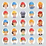 Builders Cartoon Characters Icons Set1.2 Stock Photos
