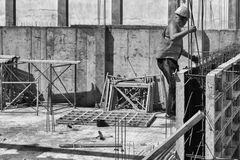 Builders for the construction royalty free stock images
