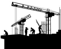 Builders on a construction site Stock Photography