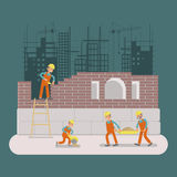 Builders construction working Royalty Free Stock Image