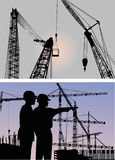Builders and cranes Stock Photos