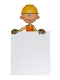 Builders 3d with frame Royalty Free Stock Photo