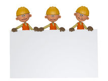 Builders 3d with frame Stock Photography