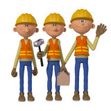 Builders 3d Stock Photography