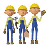 Builders 3d with toolbox Royalty Free Stock Image