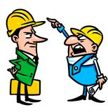 Builders dispute illustration Stock Images