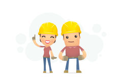 Builders family Royalty Free Stock Photos