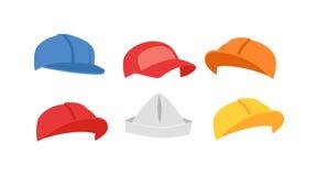 Builders hats vector set. Stock Photography