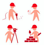 Builders icons Stock Photo