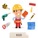 Builders icons set stock image