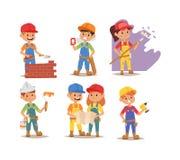 Builders kid vector Stock Photography