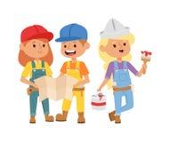 Builders kid vector Stock Image