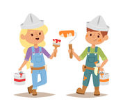 Builders kid vector Royalty Free Stock Photography