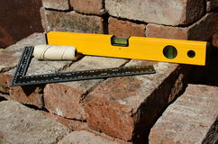 Builders measuring tools Royalty Free Stock Photography