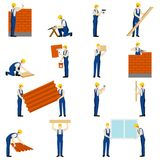 Builders People Set Stock Photos