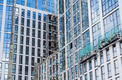 Builders Repair Facade Stock Photography