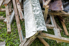 Builders Rubble Stacked and Ready for Collection and Removal Royalty Free Stock Photography