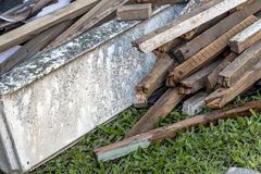 Builders Rubble Stacked and Ready for Collection and Removal Royalty Free Stock Photos