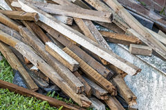 Builders Rubble Stacked and Ready for Collection and Removal Royalty Free Stock Image