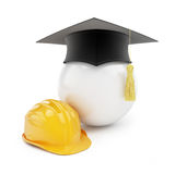 Builders school on a white background Royalty Free Stock Photo