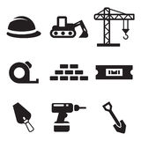 Builders Site Icons Stock Photo