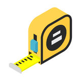 Builders tape measure isometric 3d icon. Isolated on white background Stock Photography