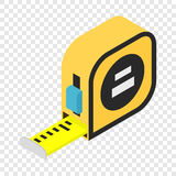 Builders tape measure isometric 3d icon. On transparent background Stock Photo