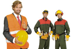 Builders team Stock Image