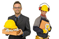 Builders team royalty free stock photography