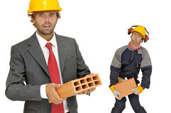 Builders team Royalty Free Stock Photo