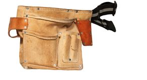 Builders tool belt Stock Photography