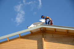 Builders on top Royalty Free Stock Image