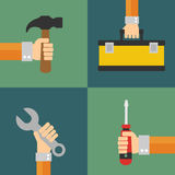 Builders vector, flat design style Stock Photography