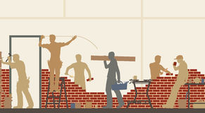 Builders at work Royalty Free Stock Photo