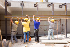 Builders at work Stock Photos
