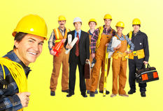 Builders workers stock photo