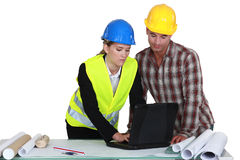 Builders working together Stock Images