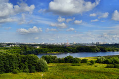 buildig υψηλή όψη πανοράματος της Μόσχας Στοκ Φωτογραφίες