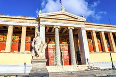Buildig of the first National Athens Academy, Athens, Greece Stock Images