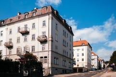 Buildiing d'annata di La Chaux de Fonds, Svizzera fotografia stock libera da diritti