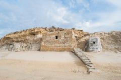 Buildin nella scogliera rocciosa Immagine Stock
