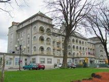 Buildind del balneario de Priessnitz, Jesenik, República Checa, Europa, 20 4 2017 fotos de archivo libres de regalías