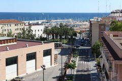 Buildind e telhado de Tarragona, imagens de stock