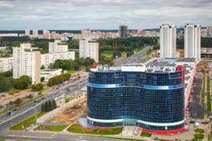 Buildind Mayak Minska i Niezaleznasci praspiekt Fotografia Stock