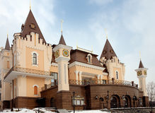 Building 1. Small puppet show theater building in Kiev, Ukraine stock photos