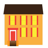 Building. Simple office or school building illustration Royalty Free Stock Images