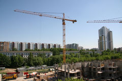 Building. Apartment house building (Russia, Moscow Royalty Free Stock Images