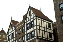 Building. Tudor Revival architecture style building royalty free stock images