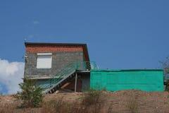 Building. Against the dark blue sky Stock Photos
