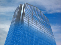Building. Abstract architectural 3D concept of office building Royalty Free Stock Photo